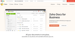 Logo of Zoho Docs